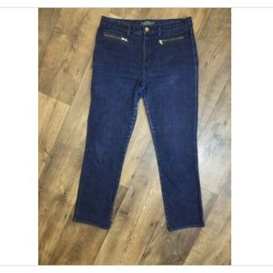 RALPH LAUREN JEANS CO DARK DENIM STRAIGHT LEG JEAN
